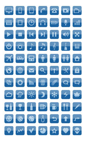 Icons and pictograms set Stock Vector - 16031035