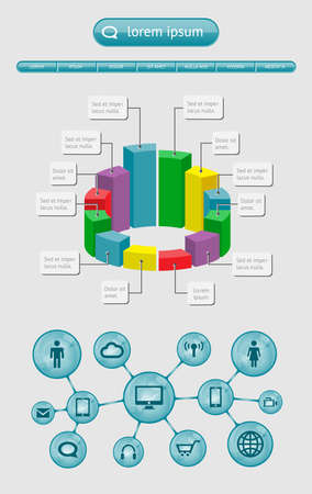 phone number: Infographics and web elements