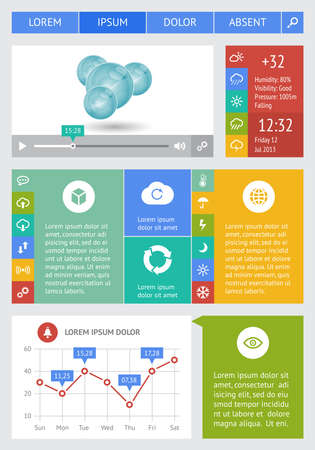 Ui, infographics and web elements including flat design Stock Vector - 20555253