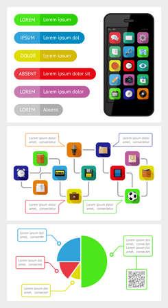 Ui, infographics and web elements including flat design Stock Vector - 21398550
