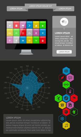 Ui, infographics and web elements including flat design Stock Vector - 21598196