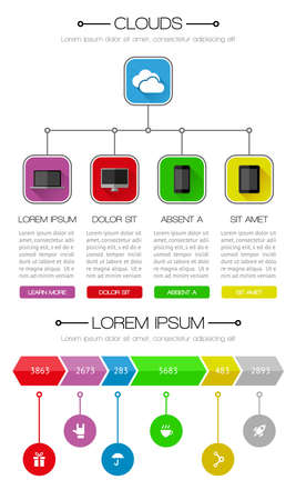 Ui, infographics and web elements including flat design Stock Vector - 21901673