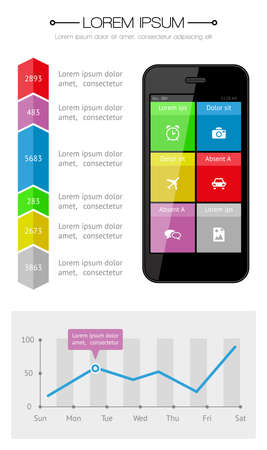 Ui, infographics and web elements including flat design Stock Vector - 22034740