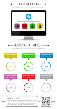 Ui, infographics and web elements including flat design Stock Vector - 22219592