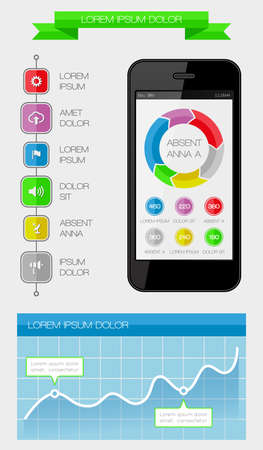 Ui, infographics and web elements including flat design Stock Vector - 22511444