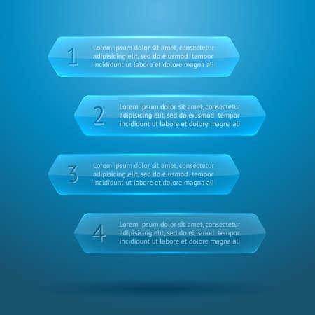 widget: Glass elements of infographics