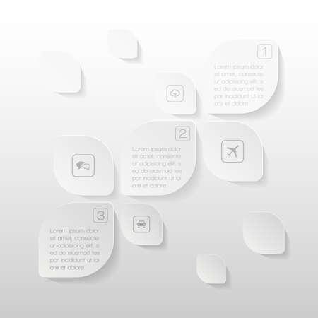 Paper elements of infographics Vector