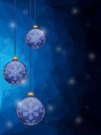 Abstract christmas background with a holiday baubles Vector