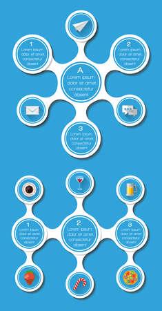 ui design: Ui, infographics and web elements including flat design