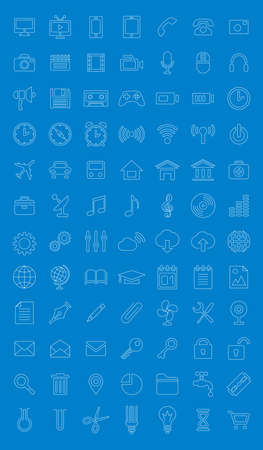 Universal icons set for web design Vector