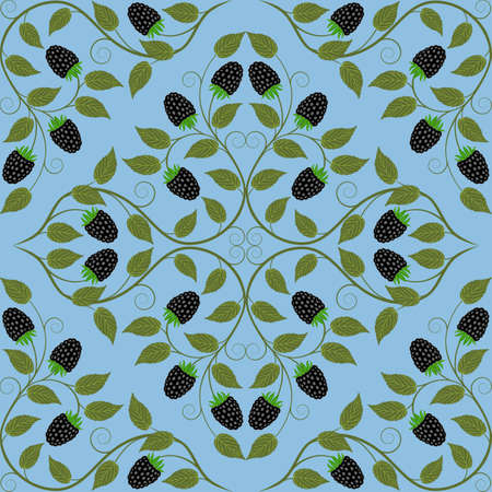 dewberry: Abstract seamless floral pattern  Retro background