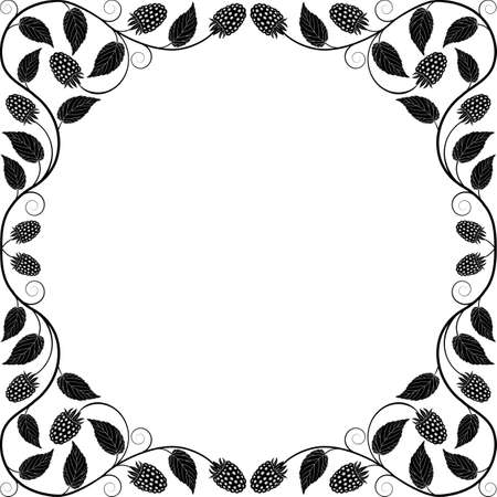 bramble: Vintage floral frame  Decorative pattern