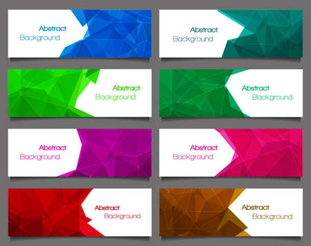 bundle: Set of  abstract modern style banners