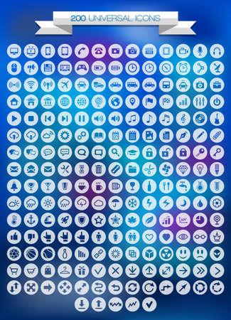 보편적 인: 200 보편적 인 아이콘을 설정