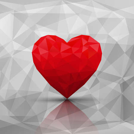 3d shape: Abstract modern style love background