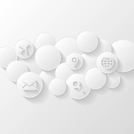 Abstract background  Cloud storage concept Vector