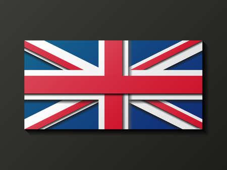 bandera de gran breta�a: Bandera del estilo moderno Gran Breta�a