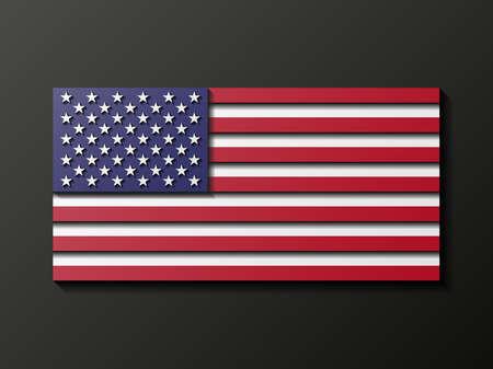 the u s  flag: Modern style U S  flag Illustration