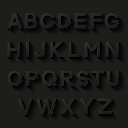 bundle of letters: Decorative alphabet  Set of letters with shadow