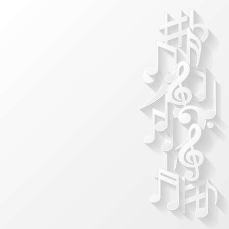 crotchets: Abstract background with musical notes Illustration