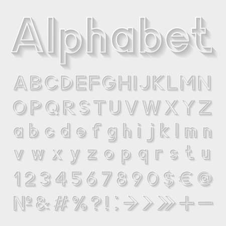 bundle of letters: Decorative alphabet Illustration