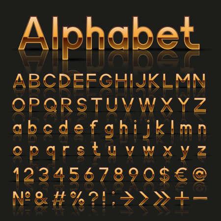 Set of decorative alphabets Vector