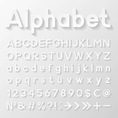 Decorative paper alphabet Illustration