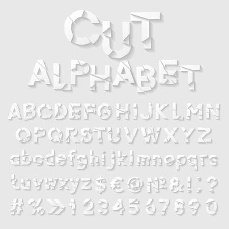 bundle of letters: Decorative cut paper alphabet