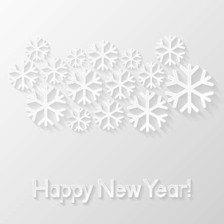 new year greeting: Happy New Year greeting card