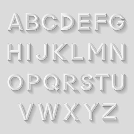 emboss: Decorative emboss alphabet
