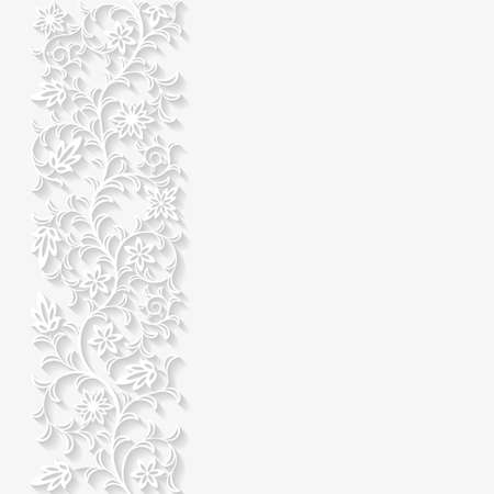 Abstract paper floral background