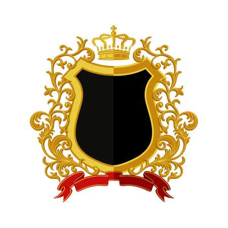 モダンなフラット スタイルの紋章付き外衣  イラスト・ベクター素材