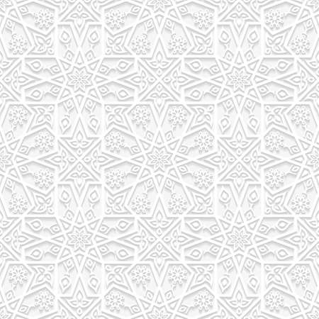 3d flower: Seamless floral pattern in traditional style