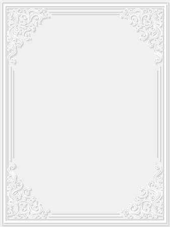 lace vector: Decorative floral frame