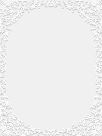 decorative background: Decorative floral frame