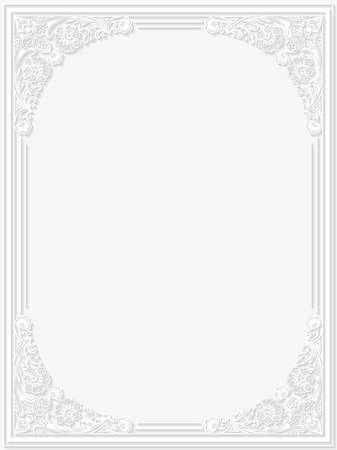 flower border: Decorative floral frame