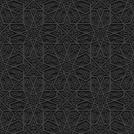 east: Seamless pattern with traditional ornament Illustration