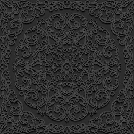 vector pattern: Seamless floral pattern. Vector illustration.