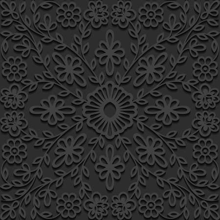 abstract illustration: Seamless floral pattern