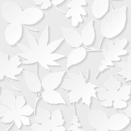 floral vectors: Seamless background with paper leaves Illustration