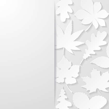 paper: Abstract background with paper leaves