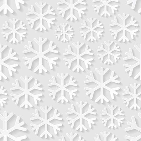 schneeflocke: Seamless Pattern mit Schneeflocken Illustration
