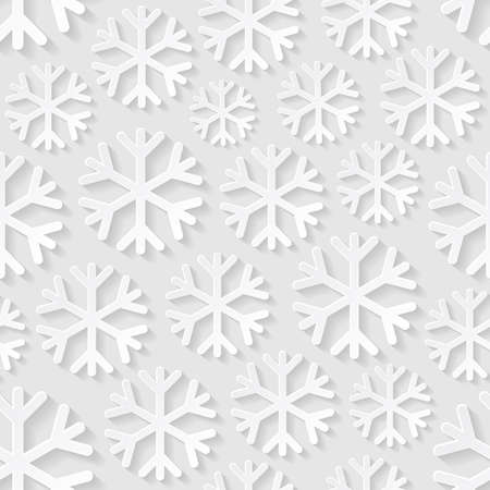 seamless pattern: Seamless pattern with snowflakes