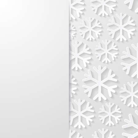 winter snow: Abstract background with snowflakes Illustration