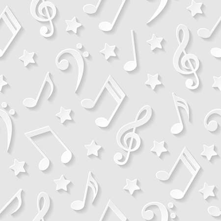 note paper background: Seamless pattern with musical notes Illustration