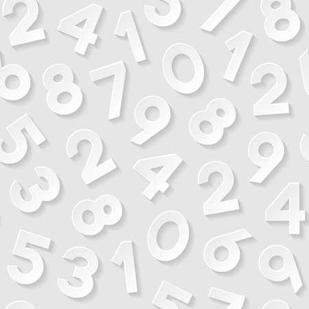 nombres: Seamless avec des num�ros