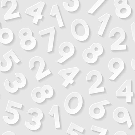 numbers background: Seamless pattern with numbers