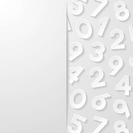 numbers abstract: Abstract background with numbers Illustration