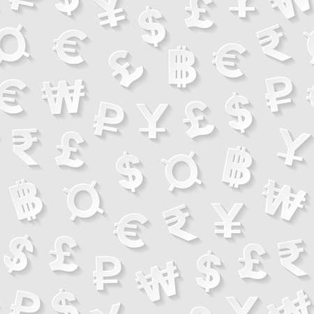 signo pesos: Patrón sin fisuras con los símbolos de moneda