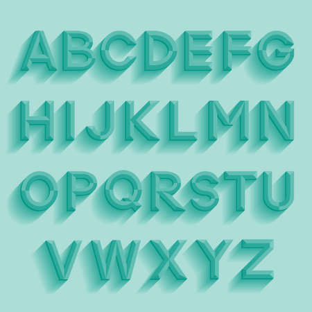 emboss: Decorative retro alphabet. Vector illustration. Illustration